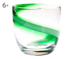 Set de 6 vasos Biscione - verde