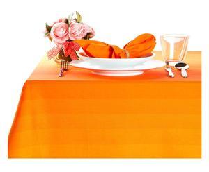 Set de 1 mantel y 8 servilletas a juego, naranja - 150x220