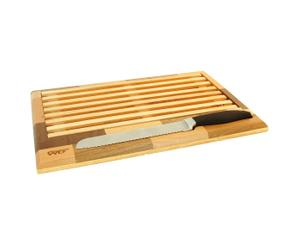 Tabla y cuchillo para cortar pan
