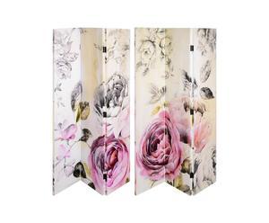 Biombo de tres puertas Rose