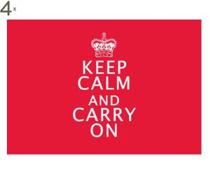 Set de 4 manteles individuales Keep Calm