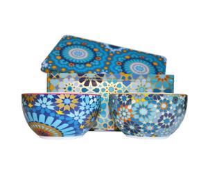 Set de 2 boles de porcelana en 1 caja metálica Moucharabieh