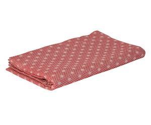 Funda de sofá de algodón Rombetto, rojo - 290x180