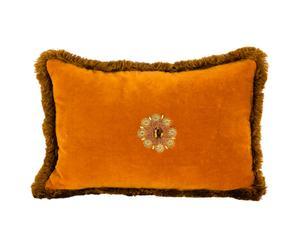 Cojín rectangular en terciopelo – naranja