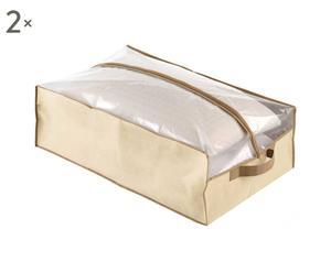Set de 2 bolsas de almacenamiento de fibra sintética - beige