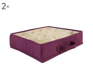 Set de 2 organizadores de cajones de 16 compartimentos - violeta