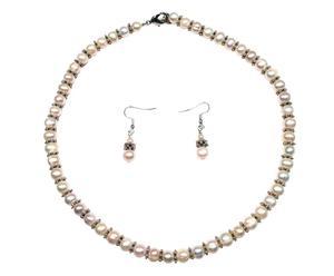 Set de Collar y pendientes con perlas Fresh