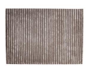 Alfombra de lana y algodón Japan, gris oscuro – 190x270