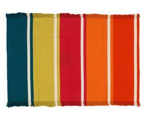 Alfombra reversible de algodón Goteborg – multicolor