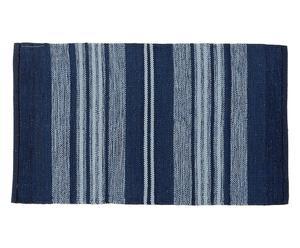 Alfombra reversible de algodón Casablanca, grande – azul