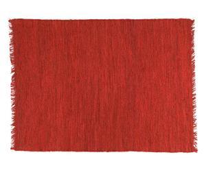 Alfombra de cáñamo, rojo - 140x200