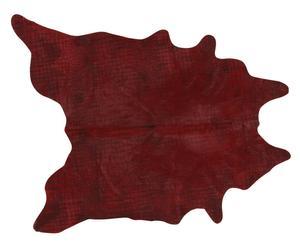 Alfombra de piel de bovino Carmo, burdeos - 170x240