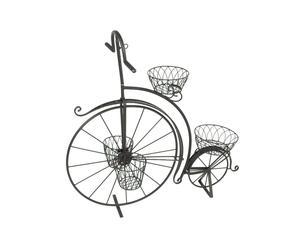 Bicicleta porta macetas de hierro - negro