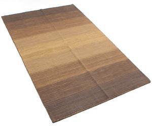 Alfombra de algodón marrón claro y crudo – 140x200