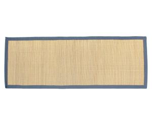 Tatami en fibra de algas, natural y azul – 70x200