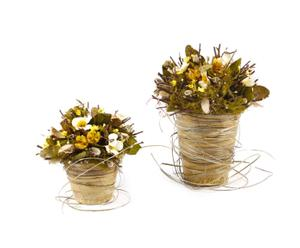 Set de 2 ramos decorativos flores secas de primavera