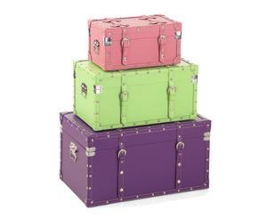 Set de 3 baúles de VIAJE - multicolor