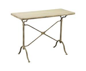Mesa de madera y metal - crema