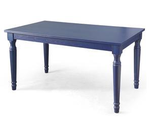 Mesa de comedor de madera – azul