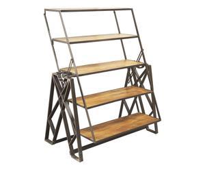 Estantería de hierro y madera convertible