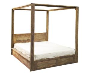 Baldaquino para cama de madera de palo de rosa
