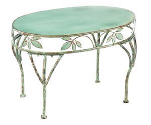 Mesa de centro de metal - verde esmeralda