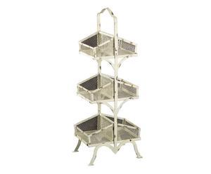 Estantería de hierro con 6 espacios - blanco