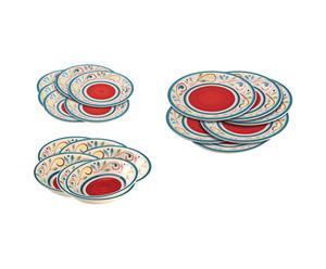 Vajilla de gres hecha a mano Gubbio - 18 piezas
