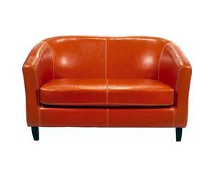Sofá de 2 plazas naranja