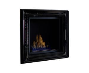 Bio-chimenea de pared con marco de madera Glem
