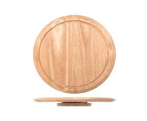 Plato redondo de madera