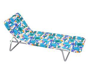 Tumbona plegable de metal babydor – multicolor