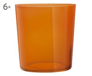 Set de 6 vasos de cristal STARK - NARANJA