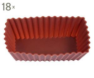 Set de 18 moldes de silicona, rectangular