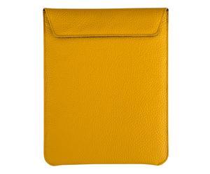 Funda de cuero para iPad - mostaza