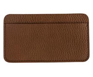 Funda de cuero para iPhone4 con tarjetero - marrón