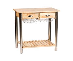 Mesa de cocina con 2 cajones