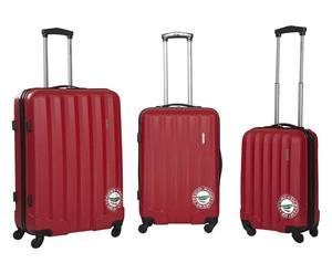 Set de 3 maletas Zanzíbar - rojo