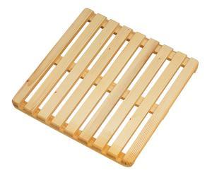 Plataforma de baño de madera - natural