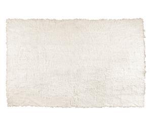 Alfombrilla de baño de piel de oveja - blanca