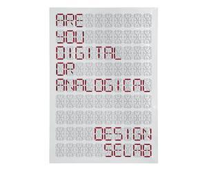 Panel de metal para componer mensajes - blanco