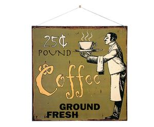 Cartel decorativo de pared vintage coffee - 30x30