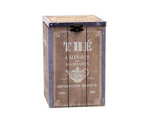 Caja para el té de madera