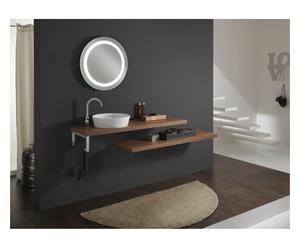 Set di 1 lavabo da parete con accessori wenge' - 8 pz.