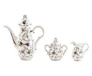 Servicio de porcelana Delice (tetera, lechera y azucarera)