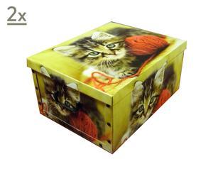 Set de 2 cajas de cartón Sweet Cats