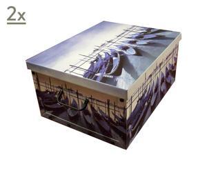 Set de 2 cajas de cartón Venice