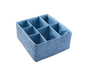 Cesta con 7 compartimentos – azul