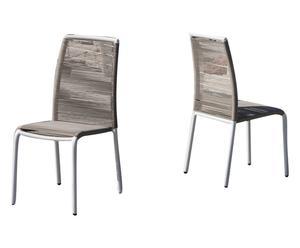 Set de 2 sillas de aluminio y pvc KELY – arena