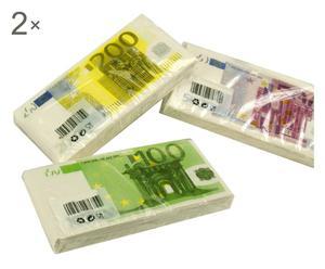 Set de 12 paquetes de servilletas Euro - multicolor